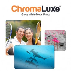 CHROMALUXE AL 5X7 GLOSS WHITE - 1 CASE = 10