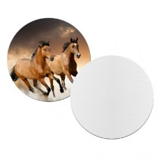 WHITE MOUSE PAD - ROUND - 1 PACKAGE= 40