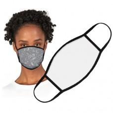 """Face Mask Large White /Black Trim 7.5x5.25"""""""