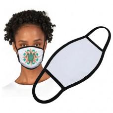"""Face Mask Large White /Black Trim 7x5"""""""