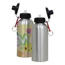 600ML SILVER WATER BOTTLE - 1 PACKAGE=6