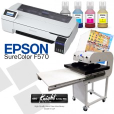 Epson F570 & Geo Knight Sublimation Bundle Package
